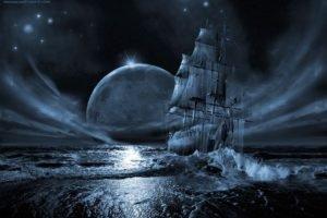 Moon, Sailing ship