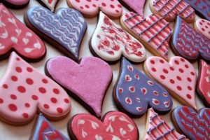 heart, Cookies, Pink, Icing, Valentine&039;s Day