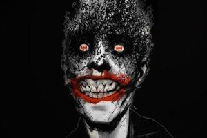 Joker, Batman, Comic art, Black background