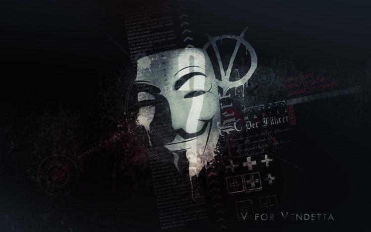 V For Vendetta Anonymous HD Wallpaper Desktop Background