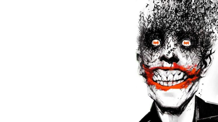 Joker, Batman, Comic art, White background HD Wallpaper Desktop Background