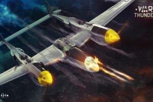 War Thunder, Airplane, Gaijin Entertainment, P 38