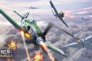 War Thunder, Airplane, Gaijin Entertainment, Focke Wulf Fw 190, North American P 51 Mustang, Boeing B 17 Flying Fortress, CGI