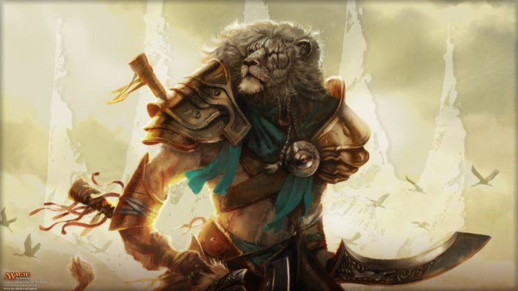 Magic: The Gathering, Lion, Ajani Goldmane HD Wallpaper Desktop Background