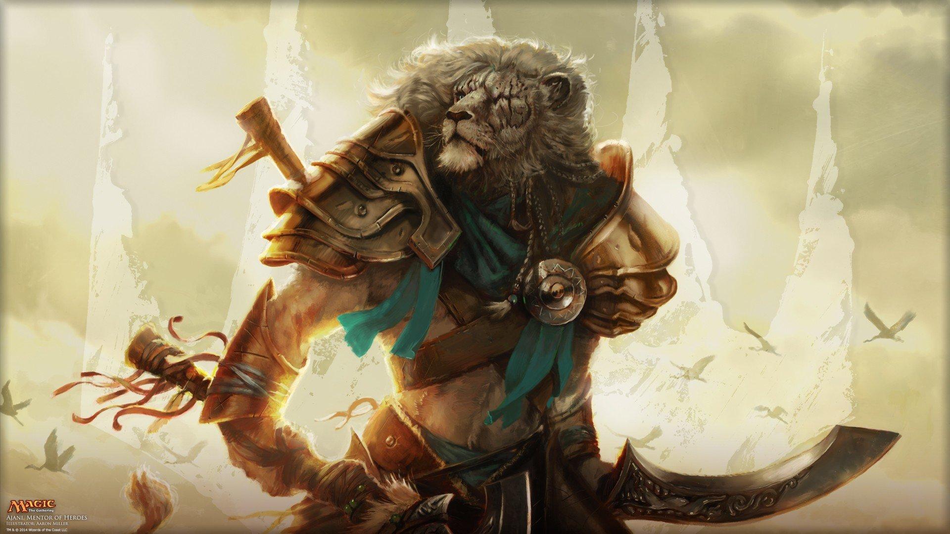 Magic: The Gathering, Lion, Ajani Goldmane HD Wallpapers