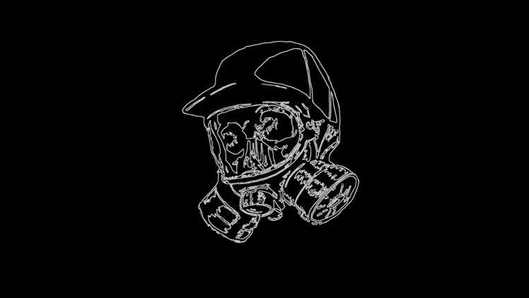 skull, Gas masks HD Wallpaper Desktop Background