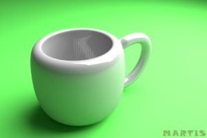 Blender, Cup, Realistic, Green, White