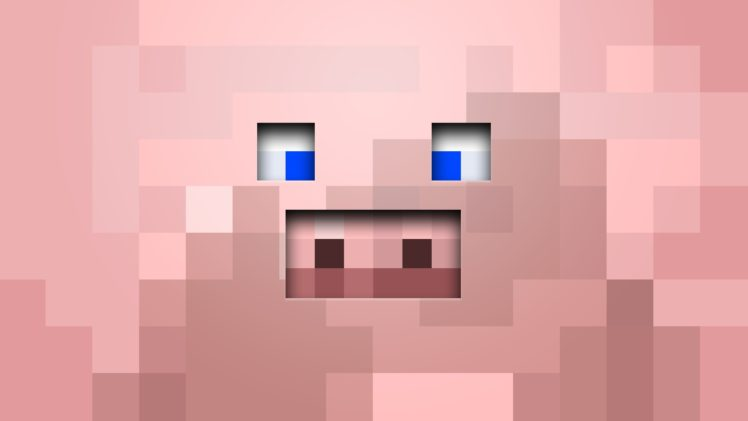Minecraft, Pink, Pigs HD Wallpaper Desktop Background