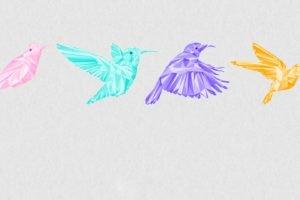 birds, Low poly