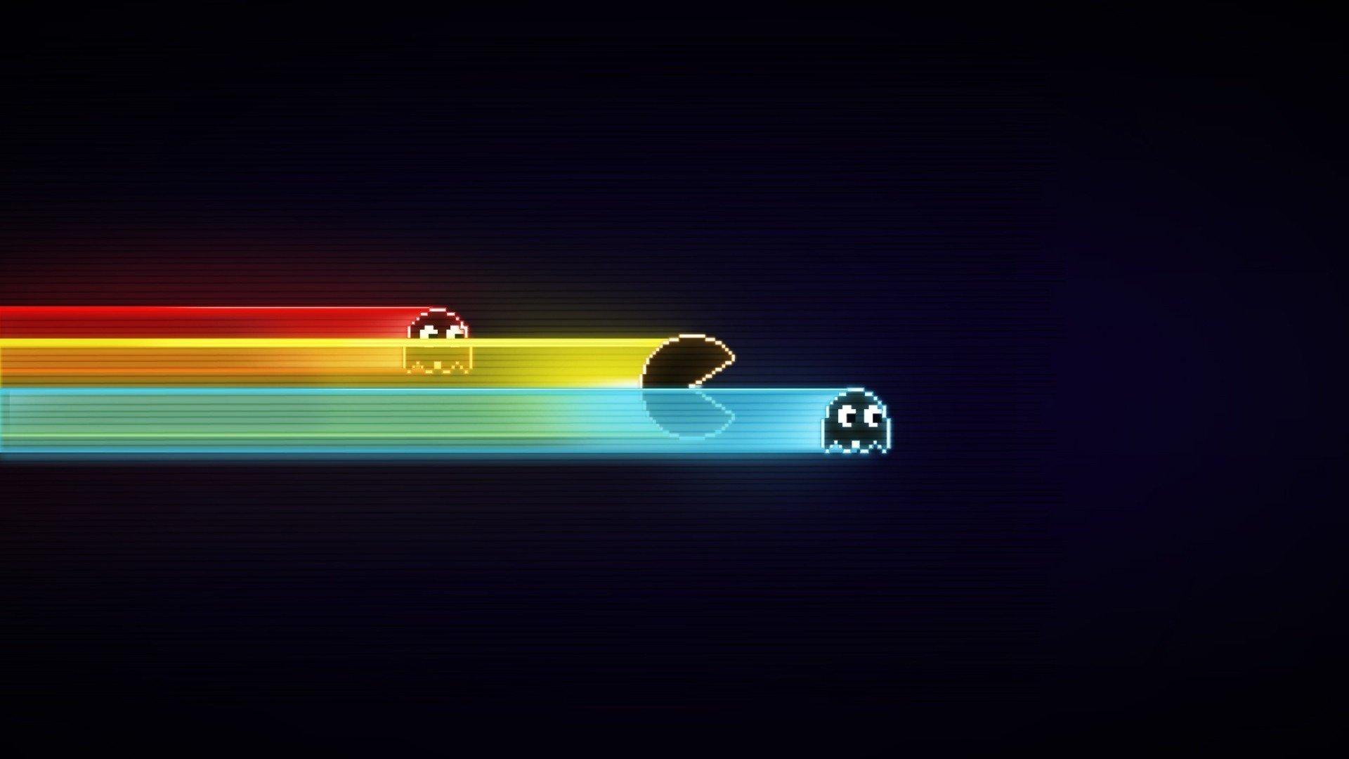 107931 Pacman GameBoy old games black minimalism