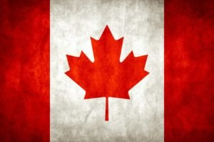 Canada, Flag, Grunge, Canadian flag
