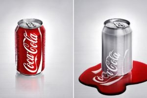 collage, Coca Cola, Can