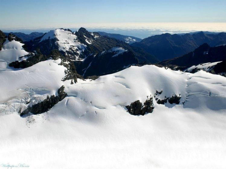 mountains, Winter, Snow, Horizon HD Wallpaper Desktop Background