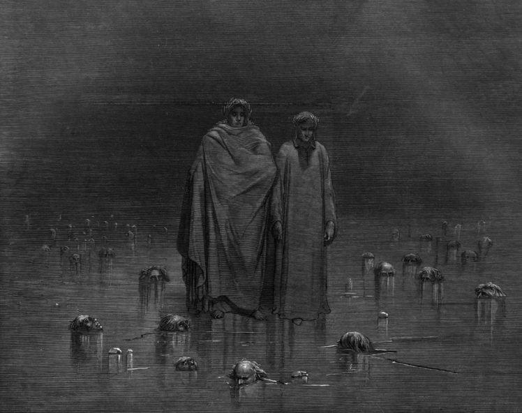 Gustave Doré, Dante Alighieri, The Divine Comedy, Dante&039;s Inferno, Classic art HD Wallpaper Desktop Background