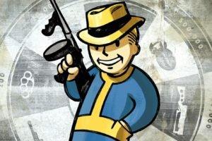 video games, Fallout, Tommy gun, Pip Boy