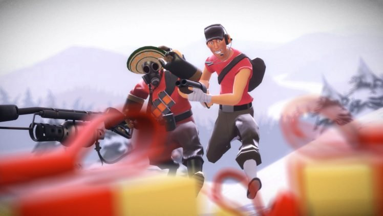 Pyro (character), Scout (character), Video games, Team Fortress 2 HD Wallpaper Desktop Background