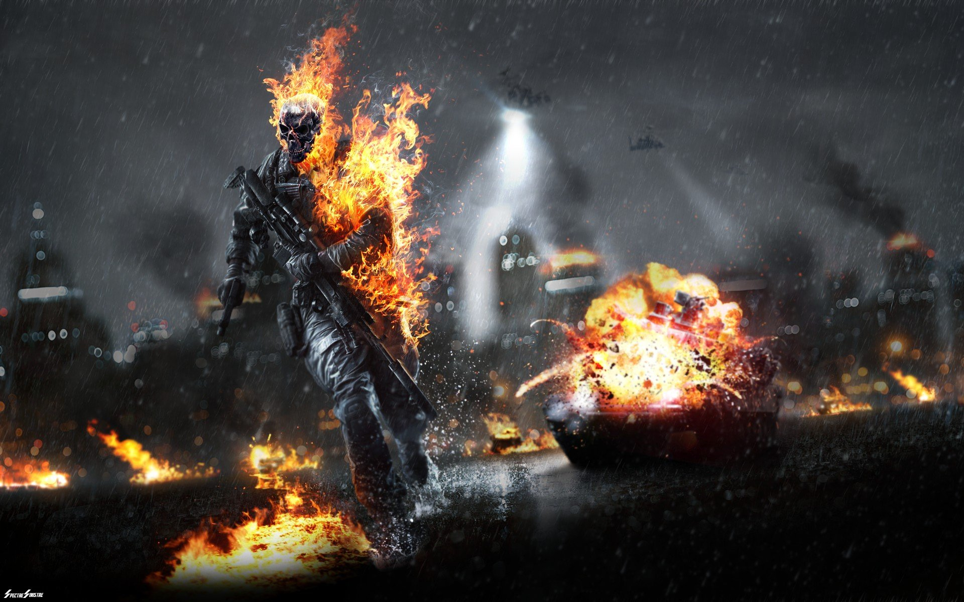 Cool Battlefield 4 Fire Armor In Black Background: Fire, Fire Man HD Wallpapers / Desktop And Mobile Images