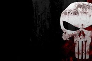 The Punisher, Black, Red, Skull