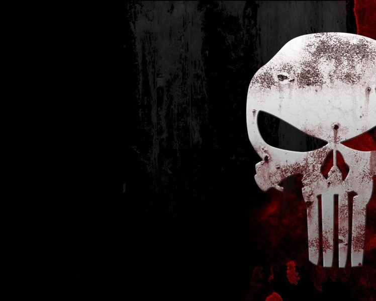 The Punisher Black Red Skull Hd Wallpapers Desktop And
