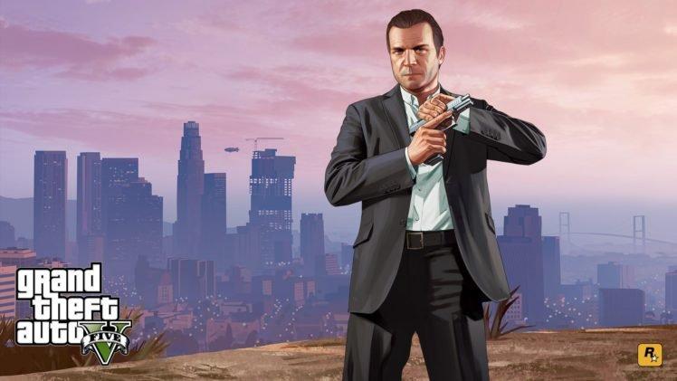 Grand Theft Auto, Grand Theft Auto V, Michael, Video games HD Wallpaper Desktop Background