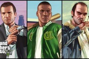 Trevor Philips, Franklin Clinton, Michael De Santa, Video games, Grand Theft Auto V, Grand Theft Auto