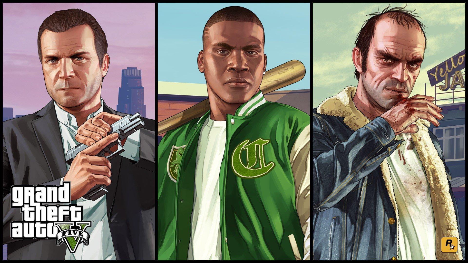 Trevor Philips, Franklin Clinton, Michael De Santa, Video games, Grand Theft Auto V, Grand Theft Auto Wallpaper