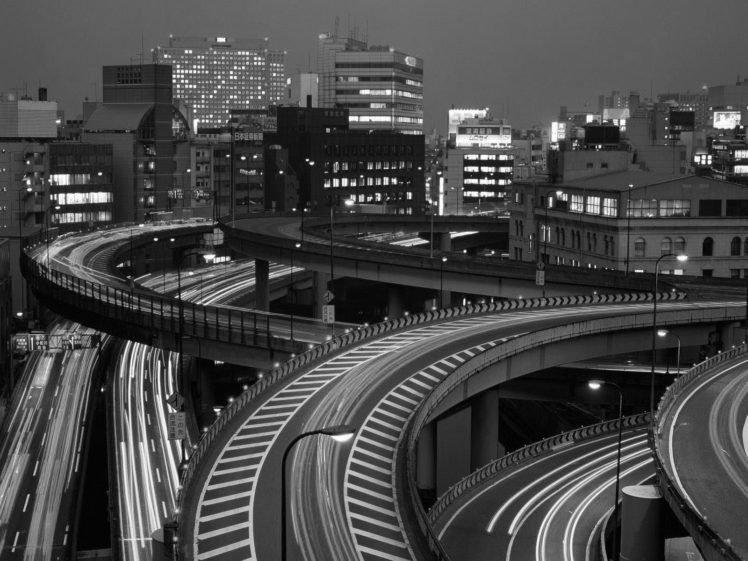 town, Lights, Road HD Wallpaper Desktop Background