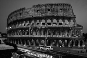 town, Lights, Rome, Ruin, Architecture, Photography, Road, Colosseum, Monochrome