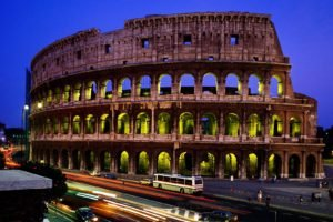 town, Lights, Rome, Ruin, Architecture, Photography, Road, Colosseum