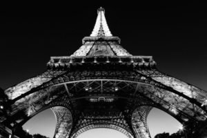 black, White, Eiffel Tower, Paris, France