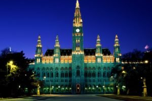palace, Monument, Lights, Architecture