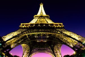 Eiffel Tower, Lights, Architecture, Cityscape, City, Paris, France