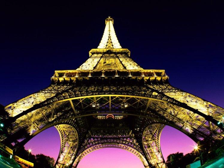 Eiffel Tower Lights Architecture Cityscape City Paris France Hd Wallpapers Desktop And Mobile Images Photos