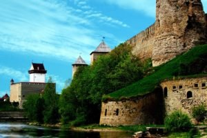 water, Castle, Wall, Architecture, Fort