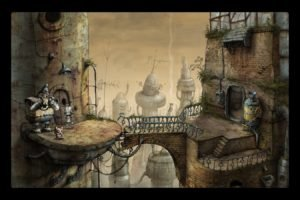Steam (software), Video games, Machinarium, Bridge, Robot, City, Screen shot