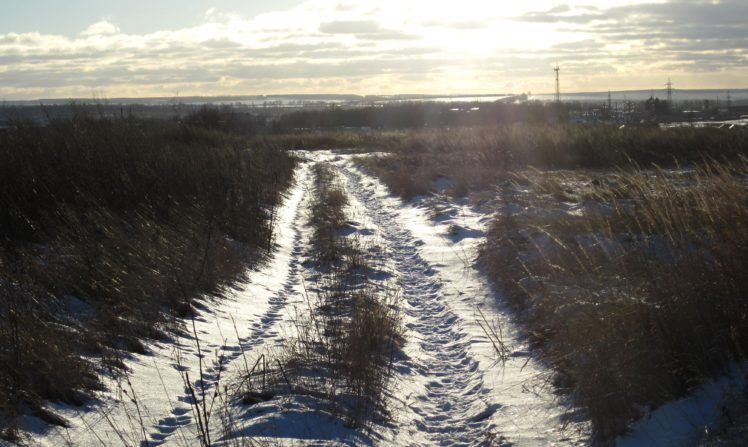 Russia, Winter, Snow, Road, Path, Dirt road HD Wallpaper Desktop Background