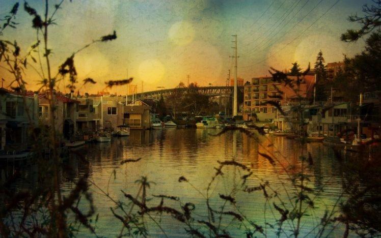 cityscape, Water, Boat HD Wallpaper Desktop Background