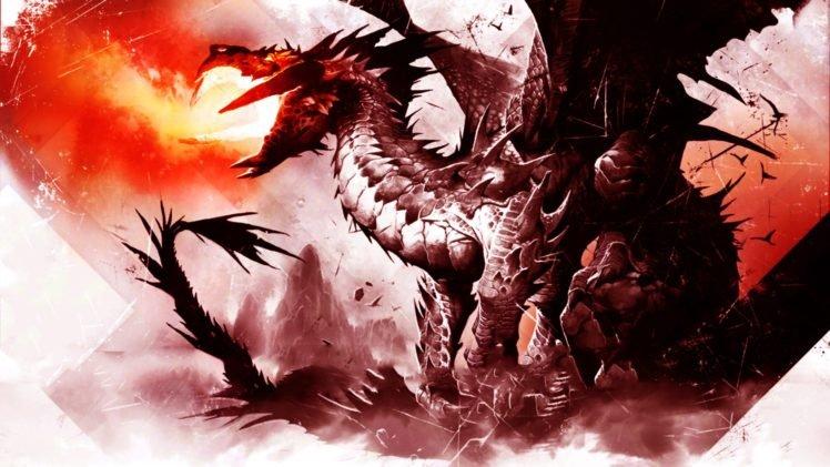 Magic: The Gathering, Dragon, Fire, Magic HD Wallpaper Desktop Background