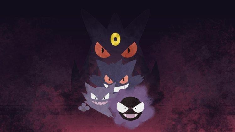 Gengar, Haunter, Pokémon, Gastly HD Wallpaper Desktop Background