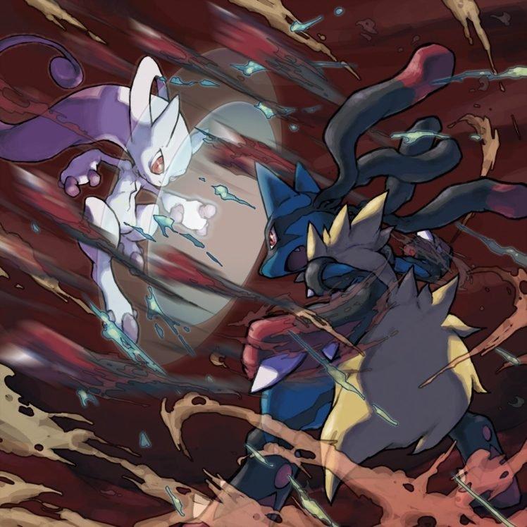 Mewtwo, Pokémon, Lucario HD Wallpaper Desktop Background