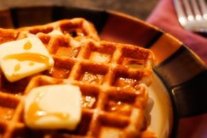 food, Waffles, Fork