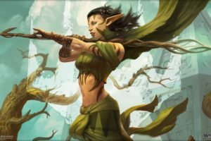 druids, Elves, Peter Mohrbacher, Magic: The Gathering, Magic, Planeswalkers, Nissa Revane, Worldwalker