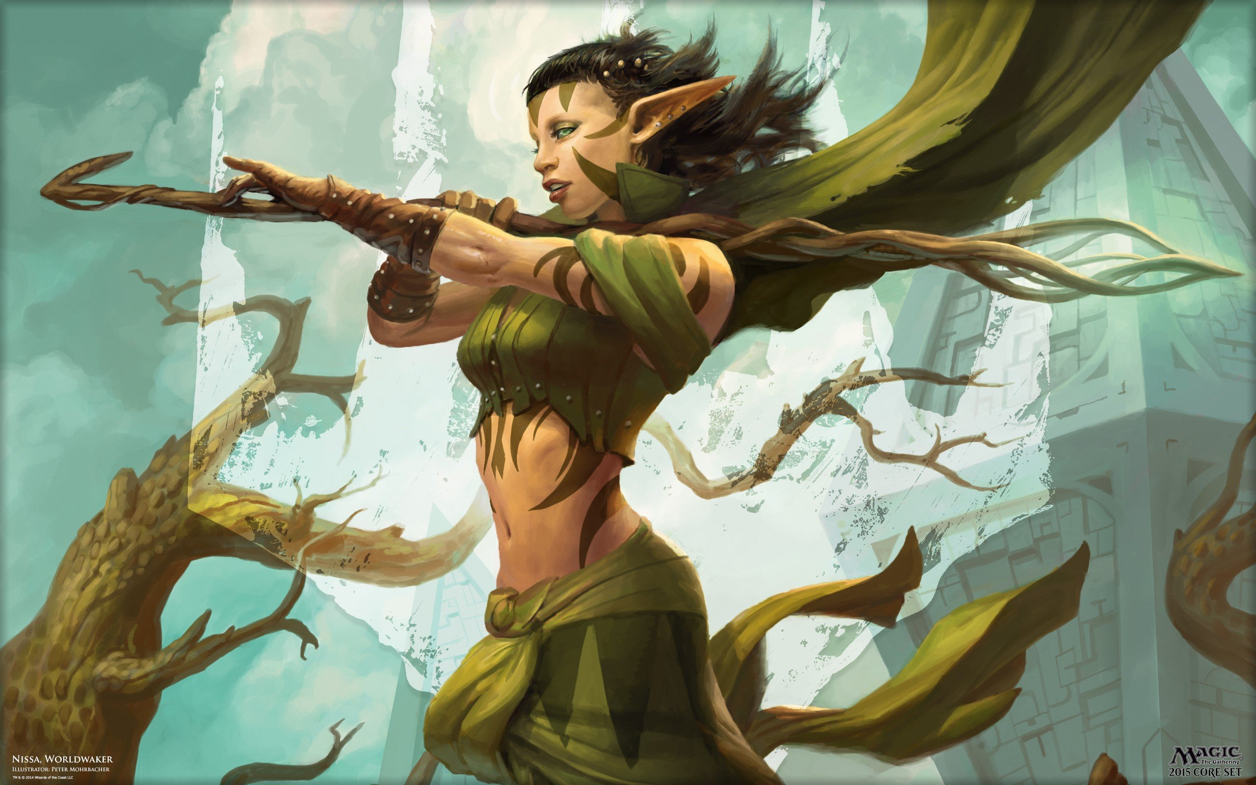 Druids Elves Peter Mohrbacher Magic The Gathering Magic
