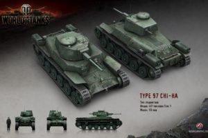 World of Tanks, Tank, Wargaming, Type 97 Chi Ha