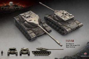 World of Tanks, Tank, Wargaming, T57 Heavy, T58 Heavy