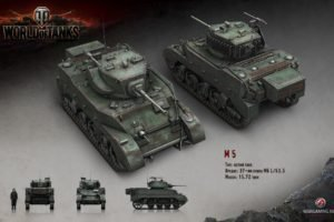 World of Tanks, Tank, Wargaming, M5 Stuart