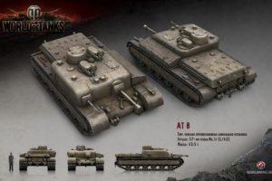 World of Tanks, Tank, Wargaming, AT 8