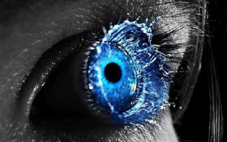 blue eyes, Blue HD Wallpaper Desktop Background