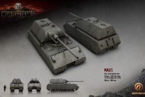 World of Tanks, Tank, Wargaming, Maus