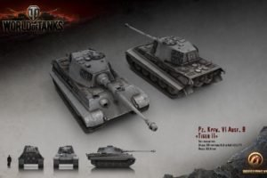 World of Tanks, Tank, Wargaming, Tiger II